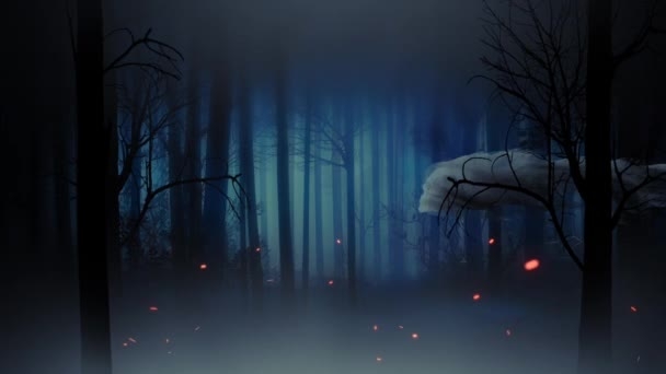 Ghostly Forest Happy Halloween 4K Loop Features A Scary Forest Silhouette  With A Smoking Skull Flying Through The Scene Leaving Behind A Happy  Halloween ...