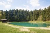 Fotografie jezero vodarenska v Banské Štiavnice