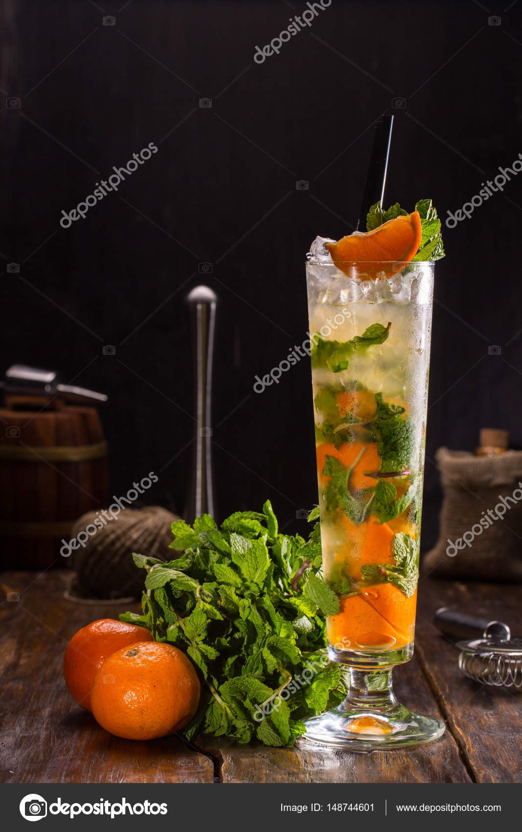 calidad real comparar el precio ahorros fantásticos Mandarina de mojito. Cóctel con ron blanco, jugo de limón ...