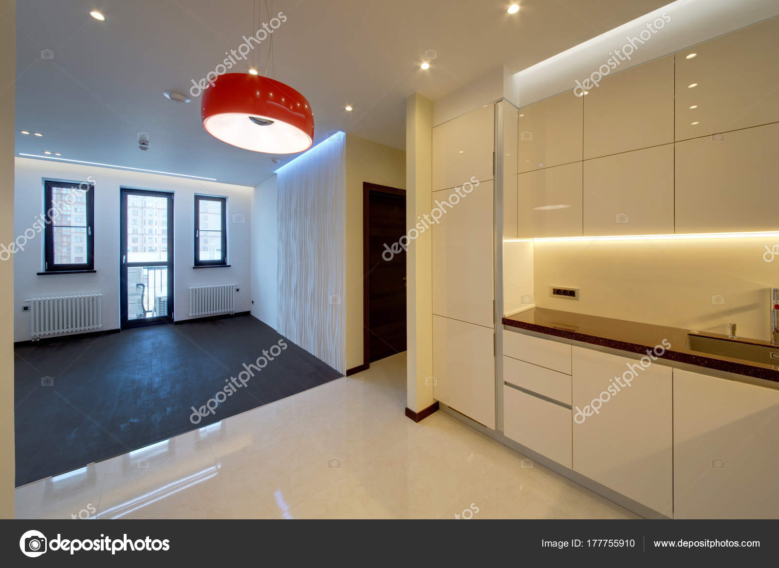 Pavimenti cucina salotto salotto con pavimento scuro for Pavimenti salotto