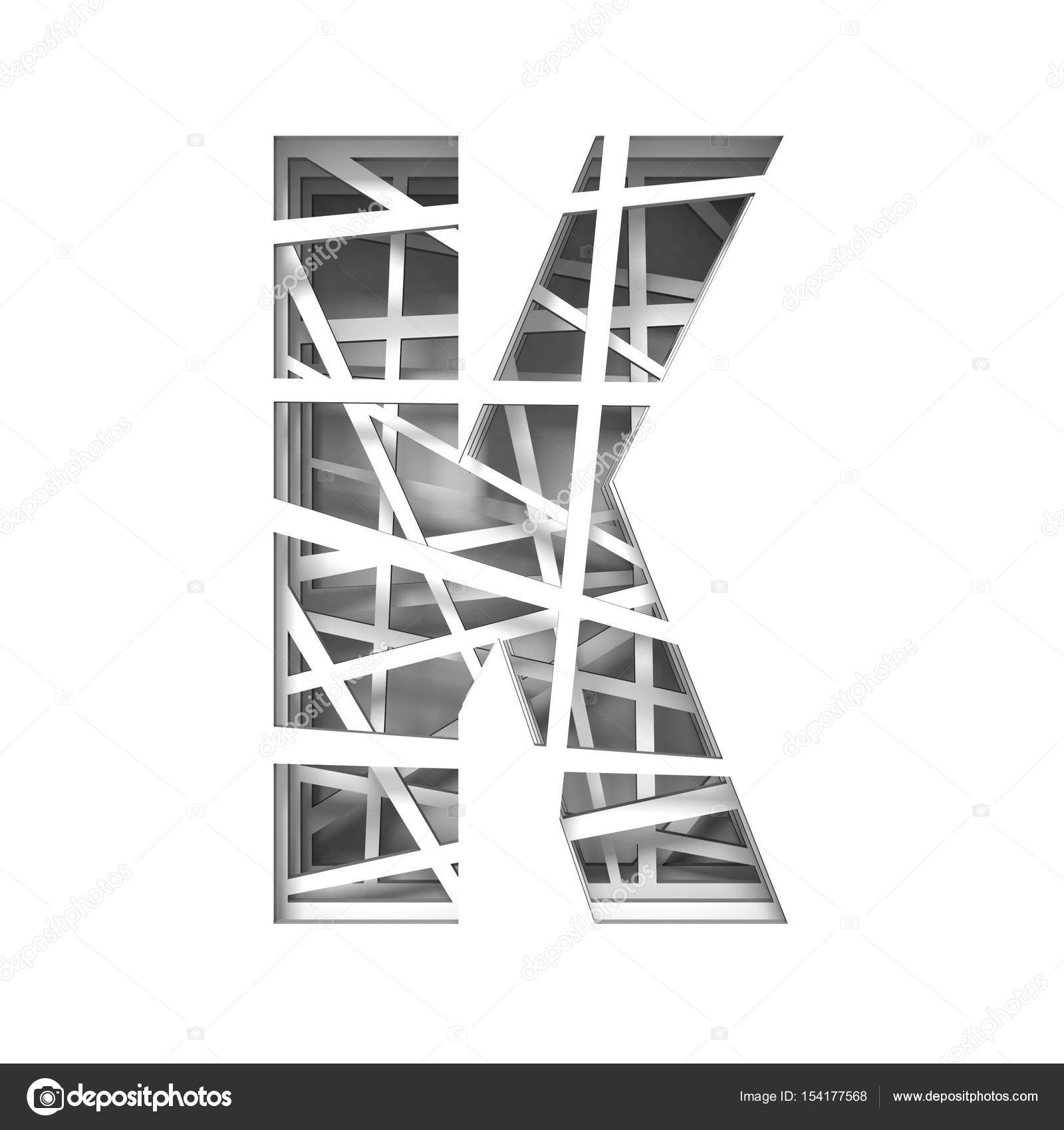 Paper cut out font letter k 3d stock photo djmilic 154177568 paper cut out font letter k 3d stock photo spiritdancerdesigns Image collections