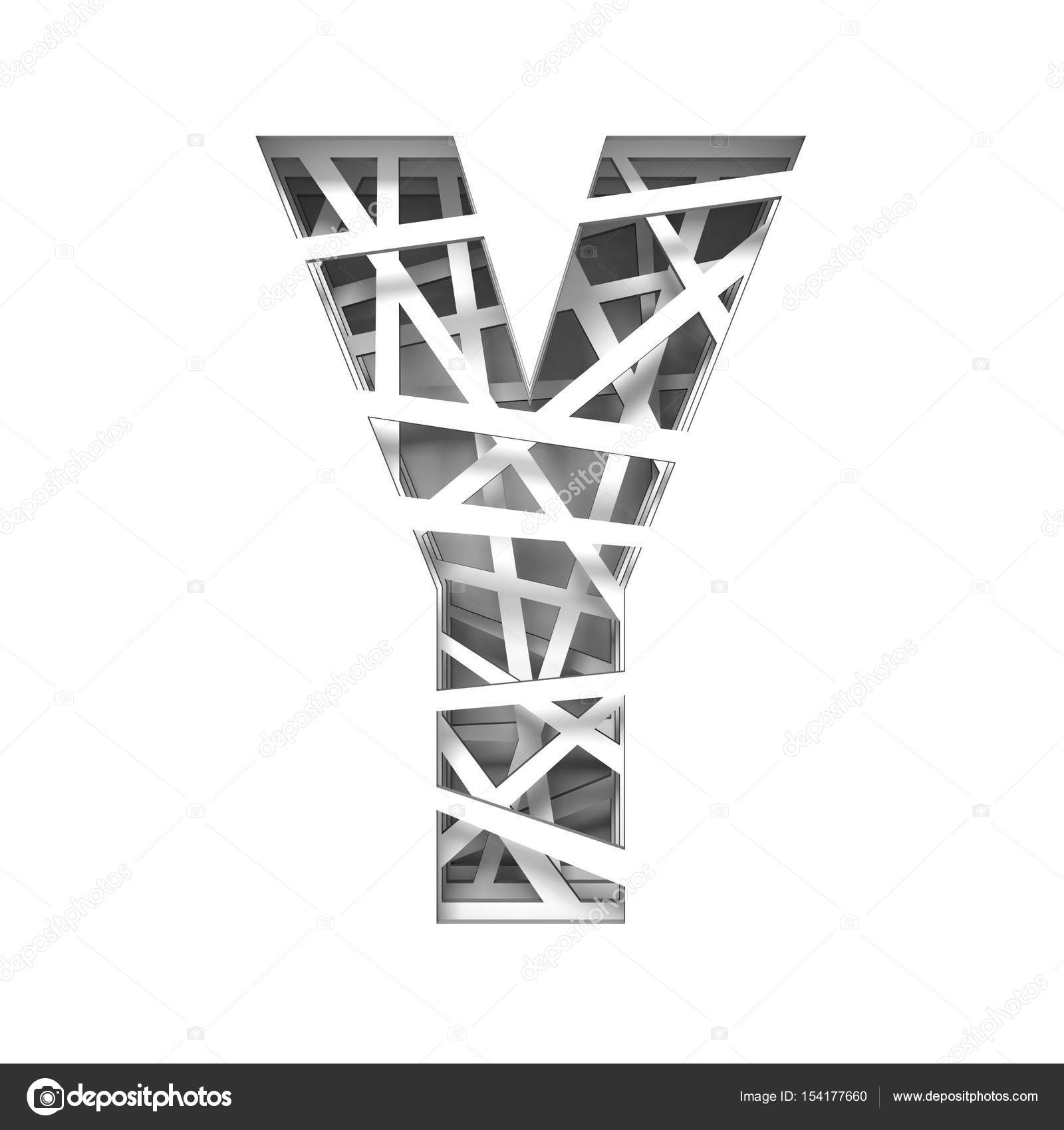 Paper cut out font letter y 3d stock photo djmilic 154177660 paper cut out font letter y 3d stock photo spiritdancerdesigns Image collections
