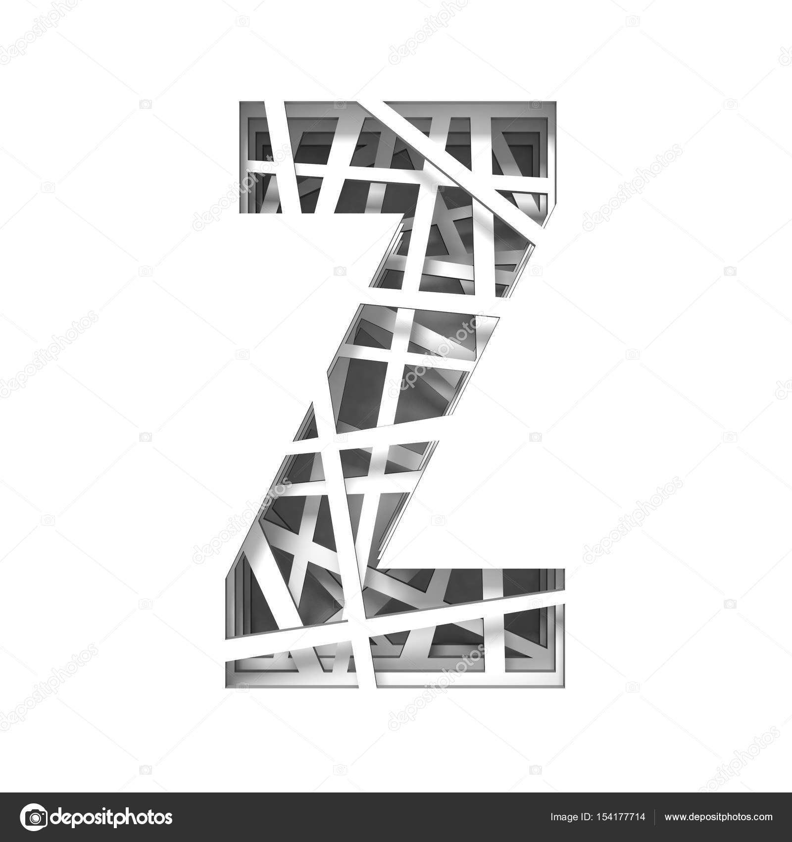 Paper cut out font letter z 3d stock photo djmilic 154177714 paper cut out font letter z 3d stock photo spiritdancerdesigns Image collections