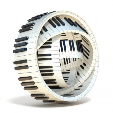 Abstract piano keys 3D