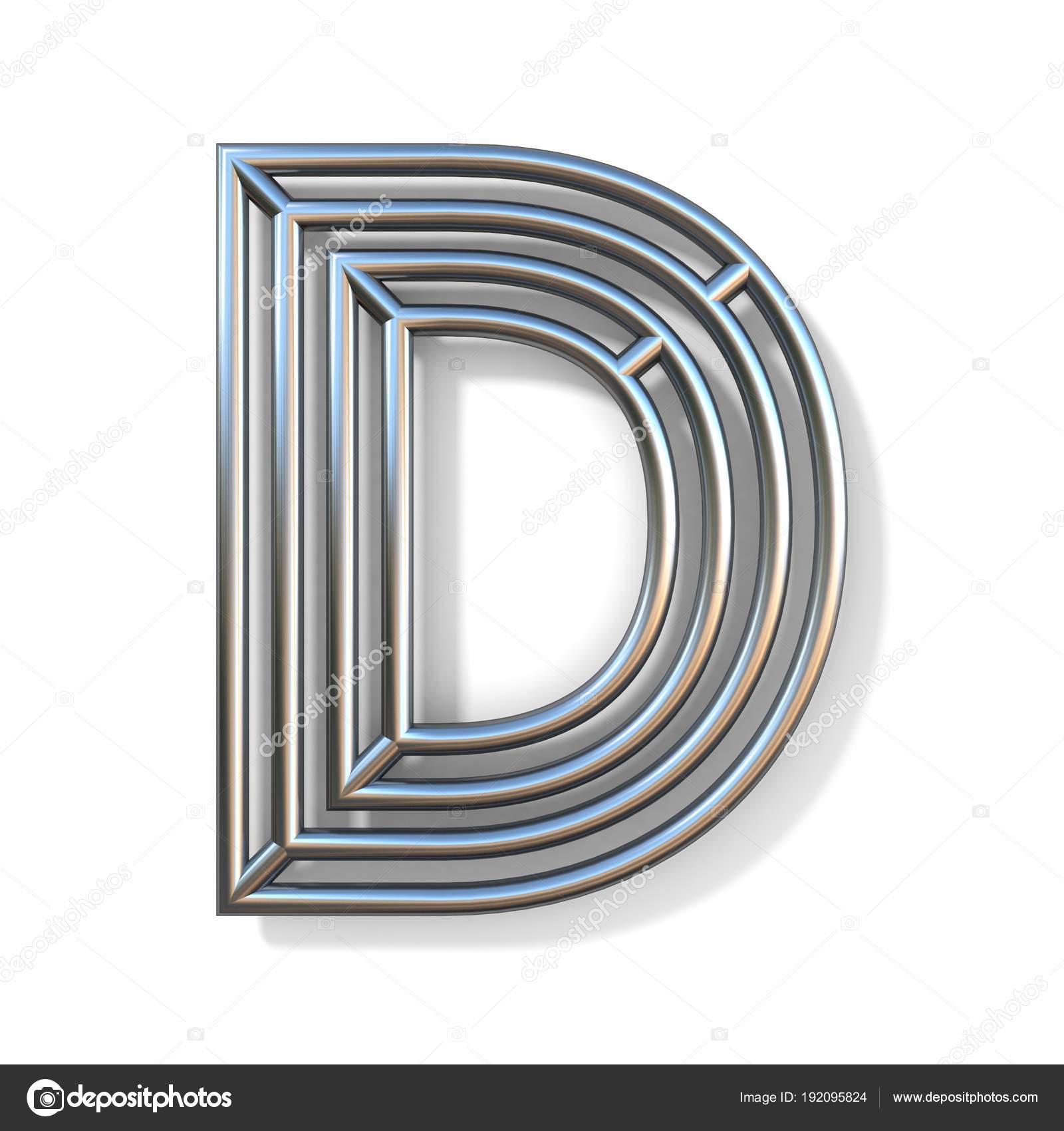 Draht Outline Schrift Buchstaben D 3d — Stockfoto © djmilic #192095824