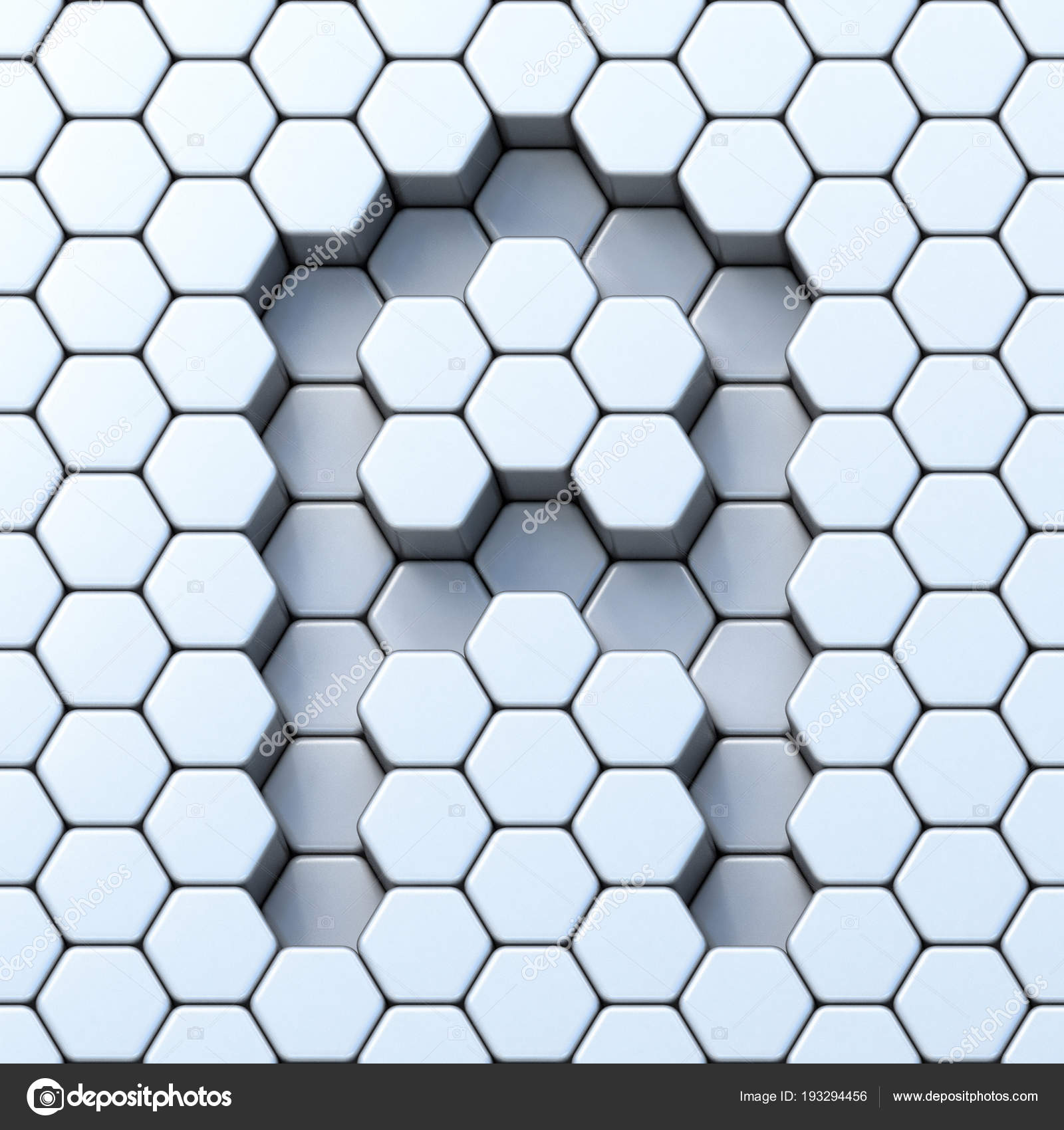 Hexagonal grid letter A 3D — Stock Photo © djmilic #193294456