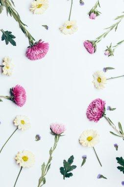 Flower arrangement top view