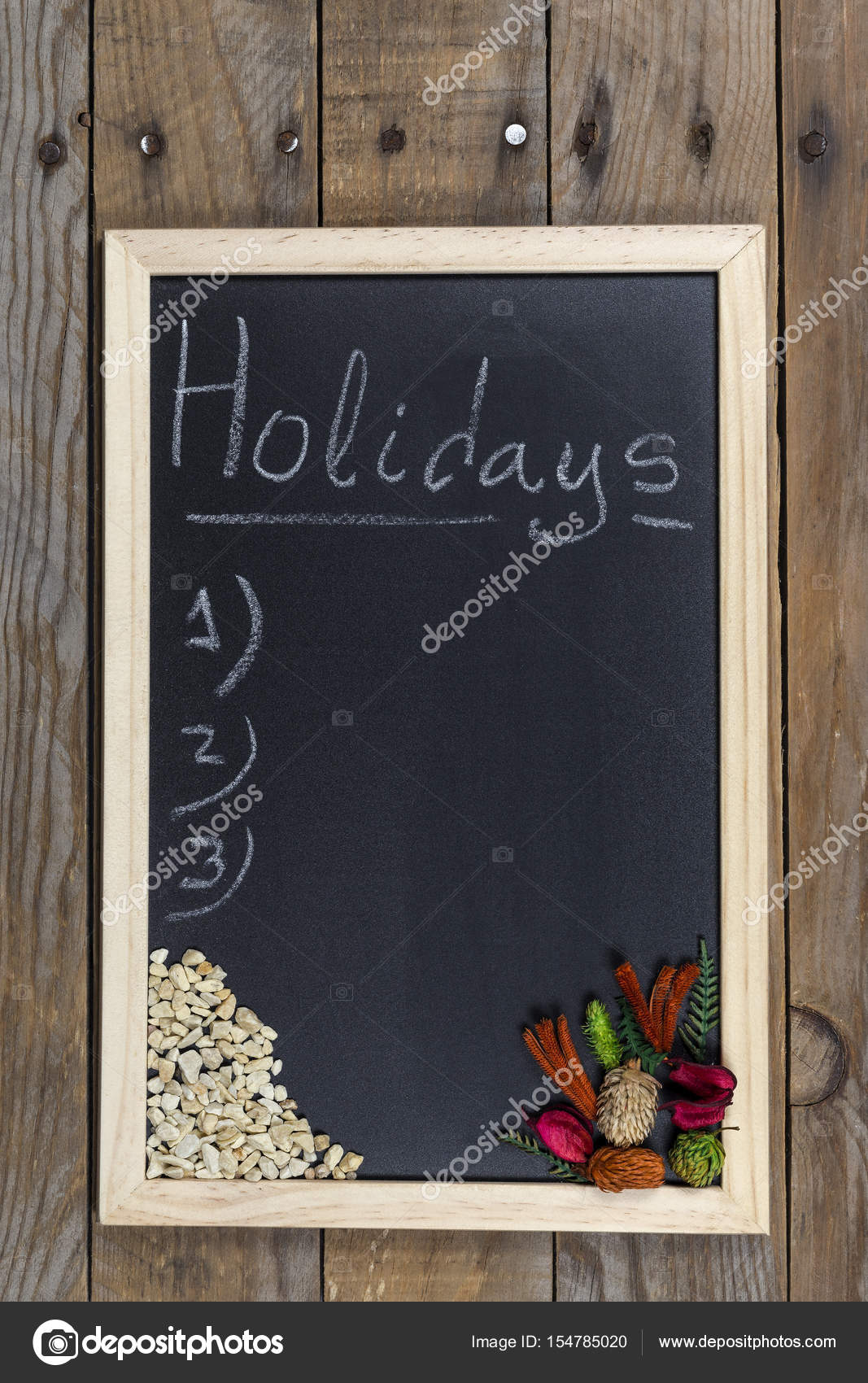 Black chalkboard with wooden frame. — Stock Photo © luismicss #154785020