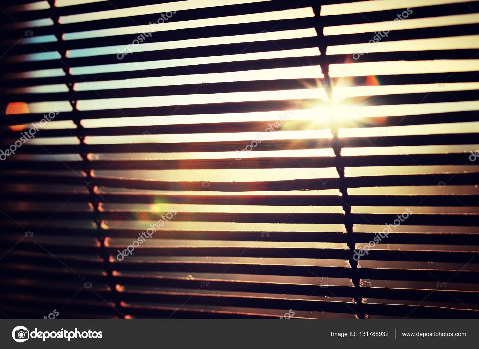 Sun Shining Through The Blinds Stock Photo Image By C Alexkich 131788932