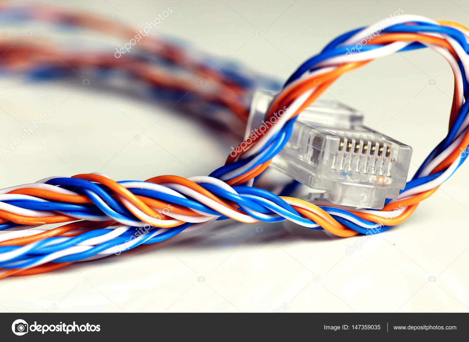 plug wire color lan — Stock Photo © alexkich #147359035