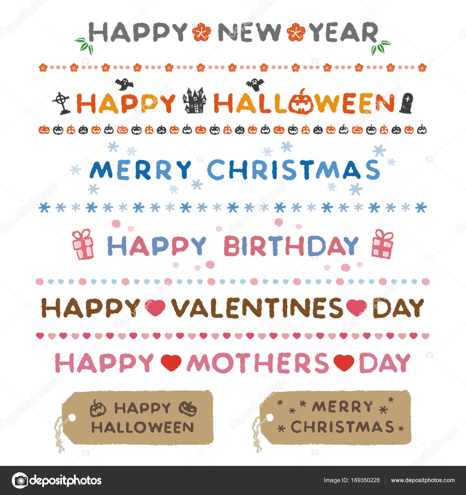 Holiday messages, Happy New Year, Halloween, Christmas, Birthday ...