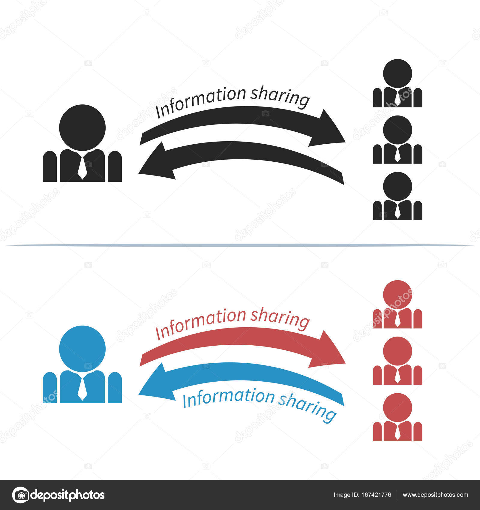 Plantilla de infografía con pictograma de hombre de negocios ...