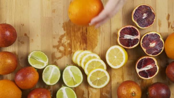 Cutting whole orange