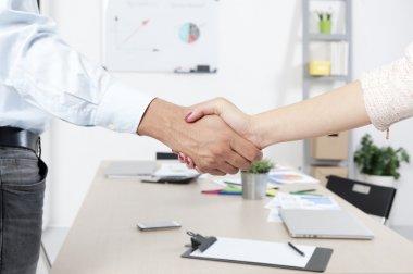Business handshake agreement