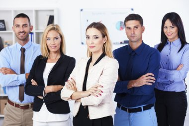 Young Businesswoman With Business Team
