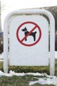 Segno severo cane sullerba