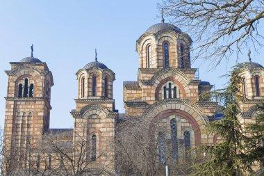 Beautiful St. Mark Church in Belgrade
