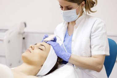 Ultrasound cavitation, face skin cleansing