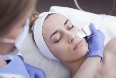 Ultrasound cavitation, face skin cleansing
