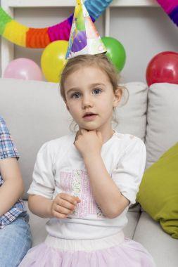 Little girl celebrate her birthday