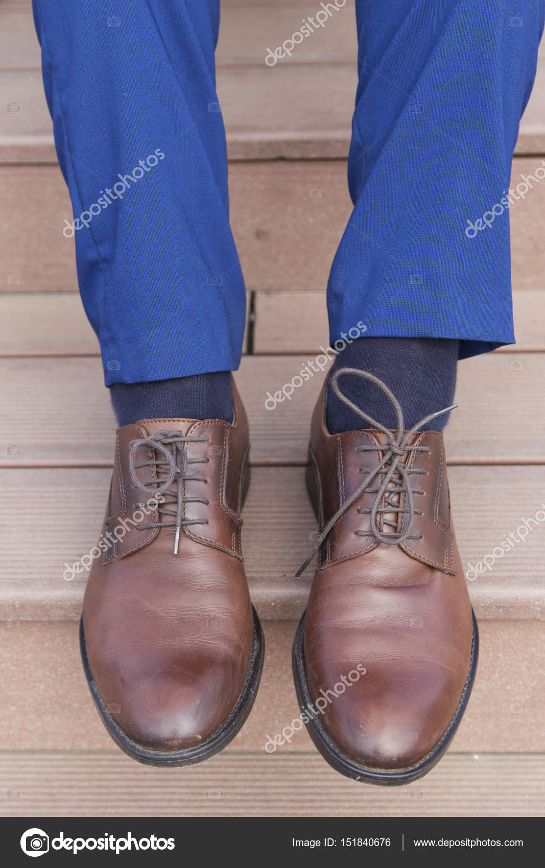 zapatos azul traje de y marrones Hombre wqxZIfgEW