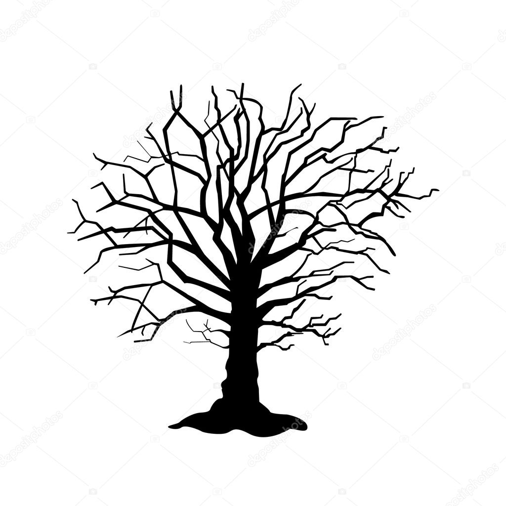oak tree silhouette stock vector sanchesnet1 gmail com 124997308 rh depositphotos com oak tree vector clip art free vector oak tree silhouette