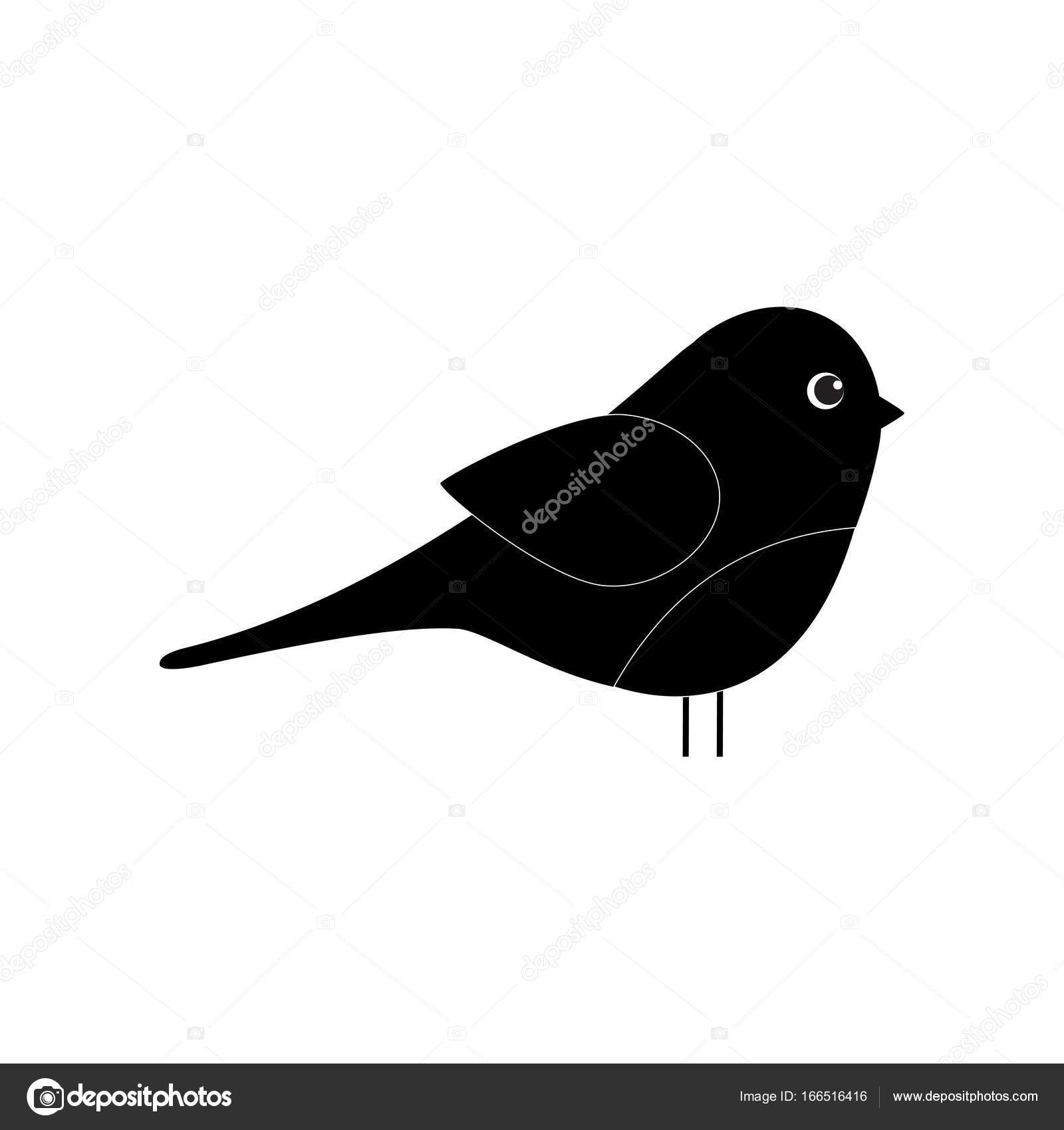 Petit Oiseau Simple Dessin Anime Image Vectorielle Sanchesnet1