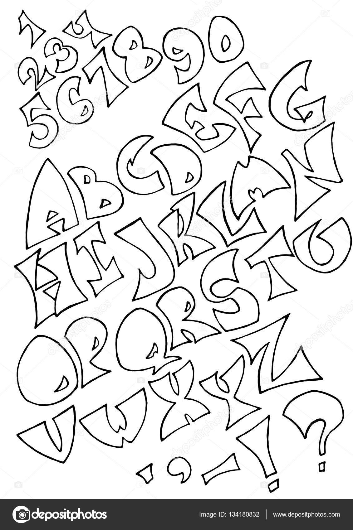 Fondo Letras Sin Para Colorear Letras Del Alfabeto Negro Sobre
