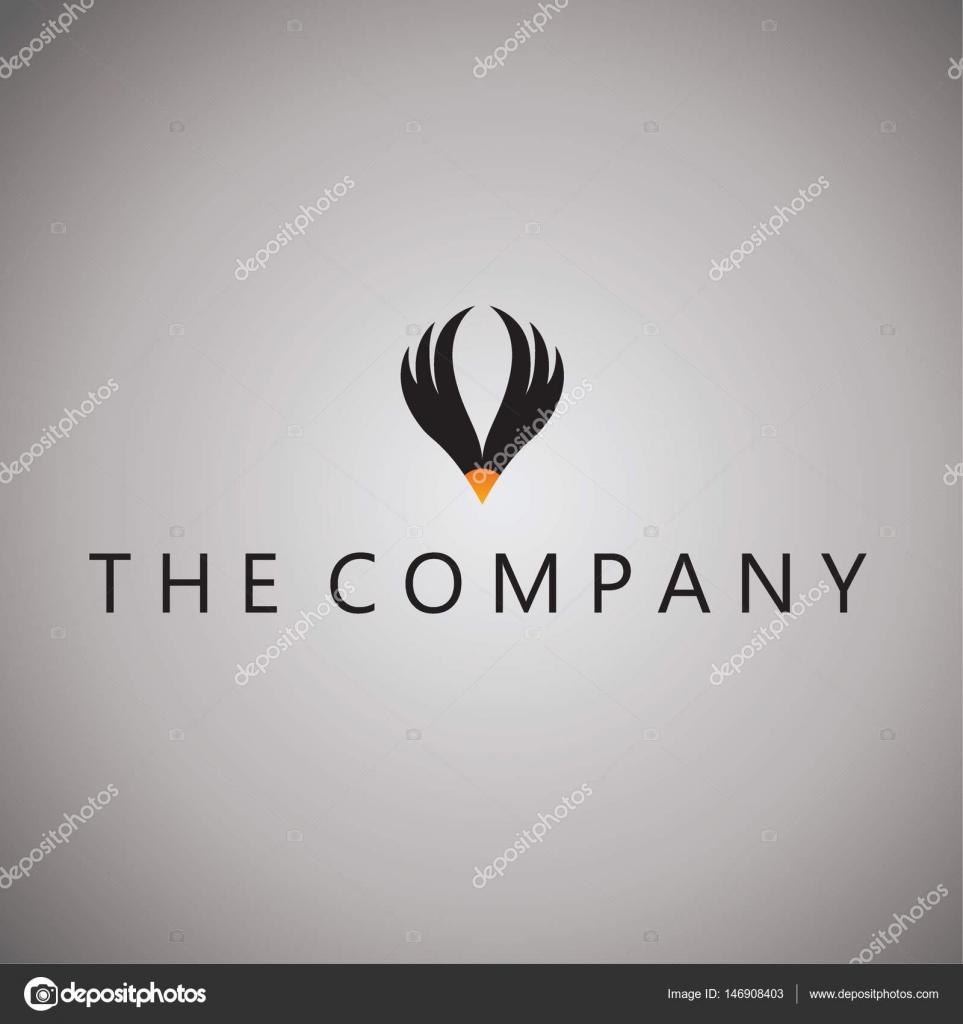 şahin Logosu Fikirler Tasarım Vektör çizim Arka Plan üzerinde Stok
