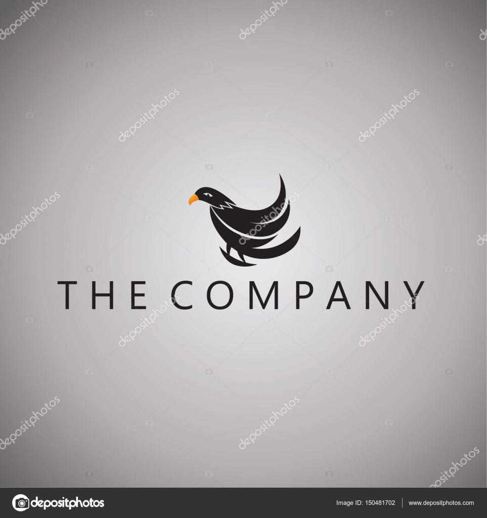 ホークのロゴ アイデア デザイン ベクトル イラスト背景 — ストック