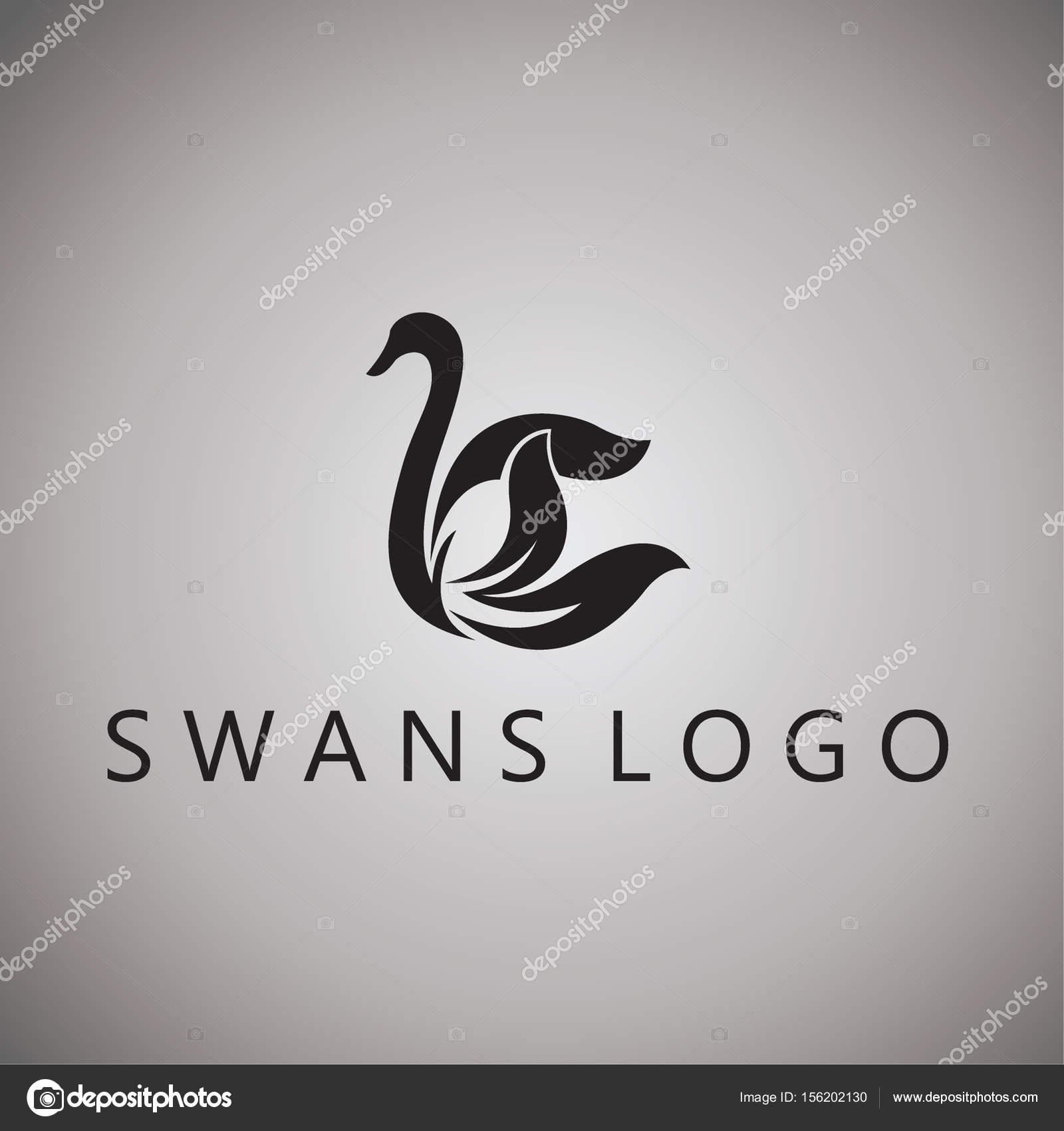 背景のベクトル イラストをデザインした白鳥のアイデア — ストック