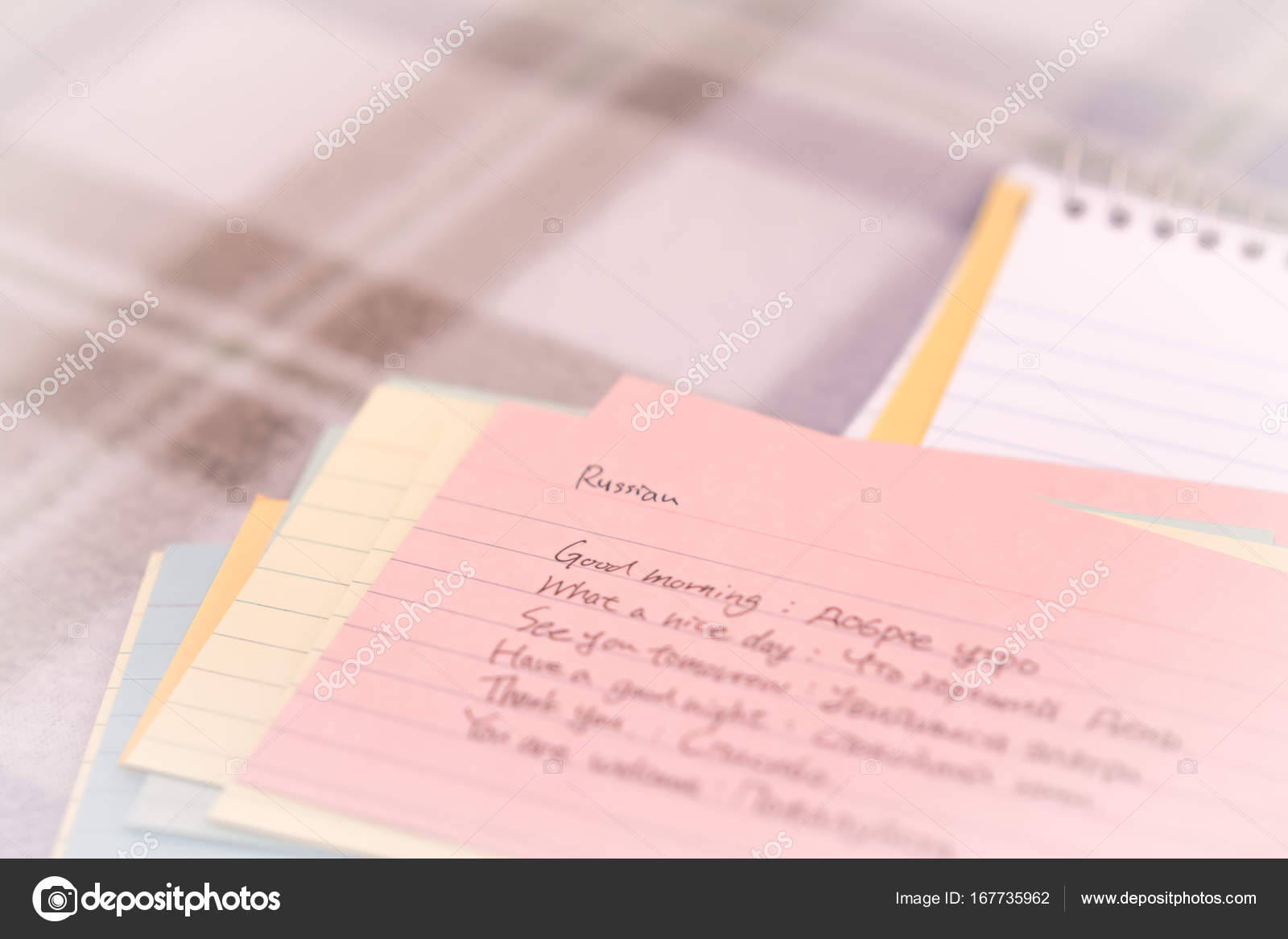 Russian learning new language writing greetings on the notebook russian learning new language writing greetings on the notebook stock photo kristyandbryce Gallery