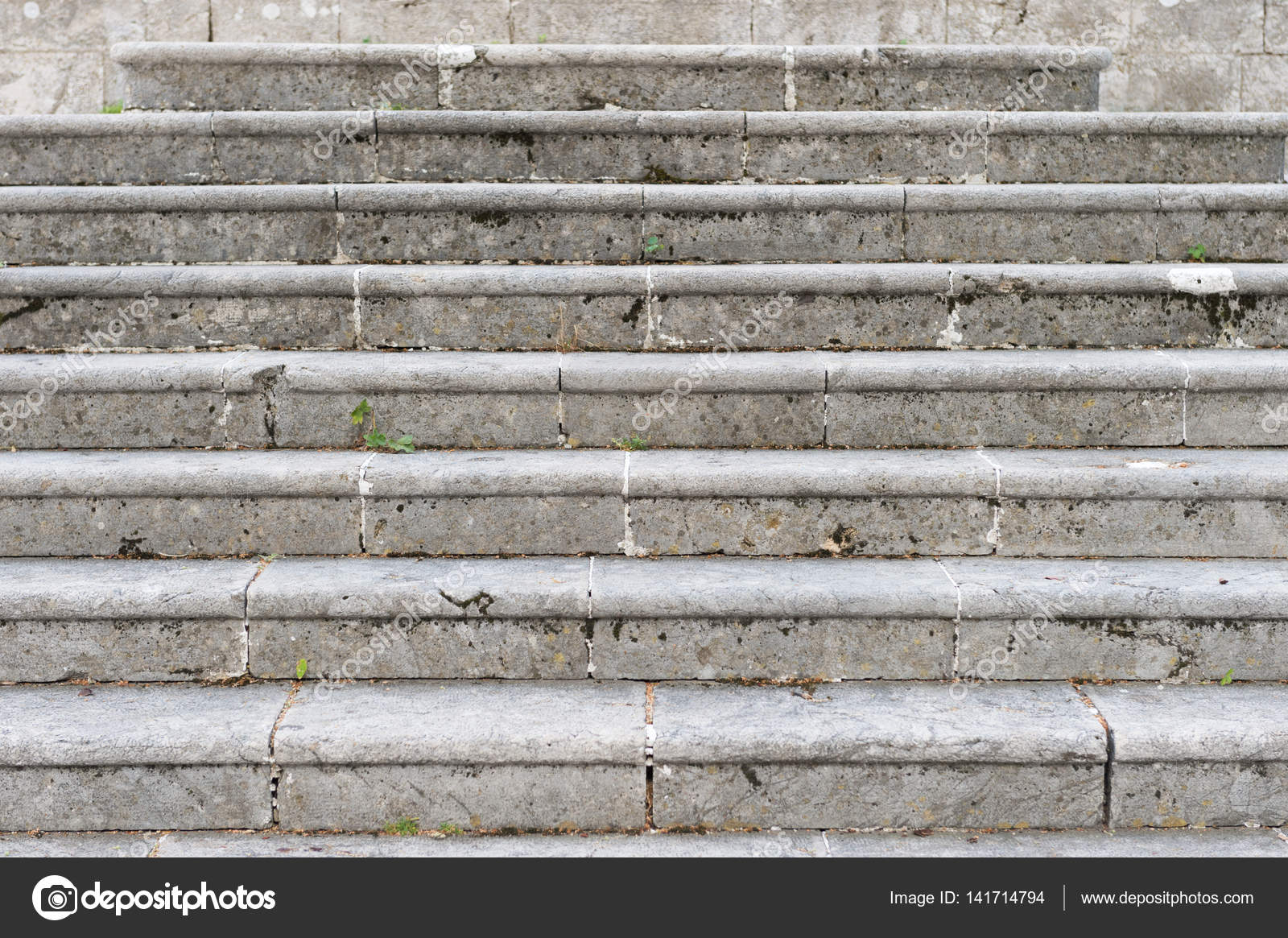 Ancient Marble Staircase, Frontal View. Old Staircase U2014 Photo By Fabitz