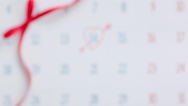Valentines giorno segnato nel calendario