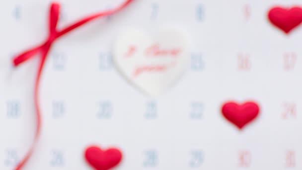 Valentýn na stránce kalendáře