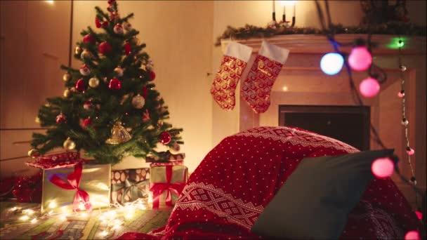 Zařízený pokoj na Štědrý večer