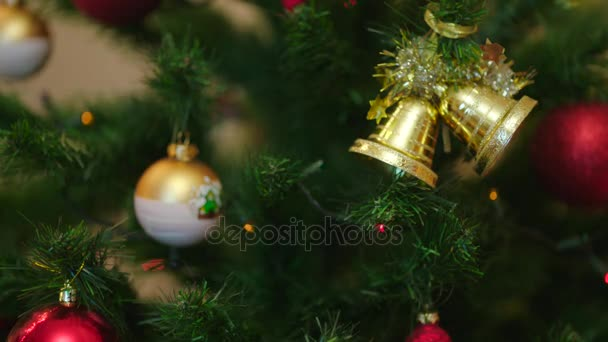 Decorated christmas tree with illumination
