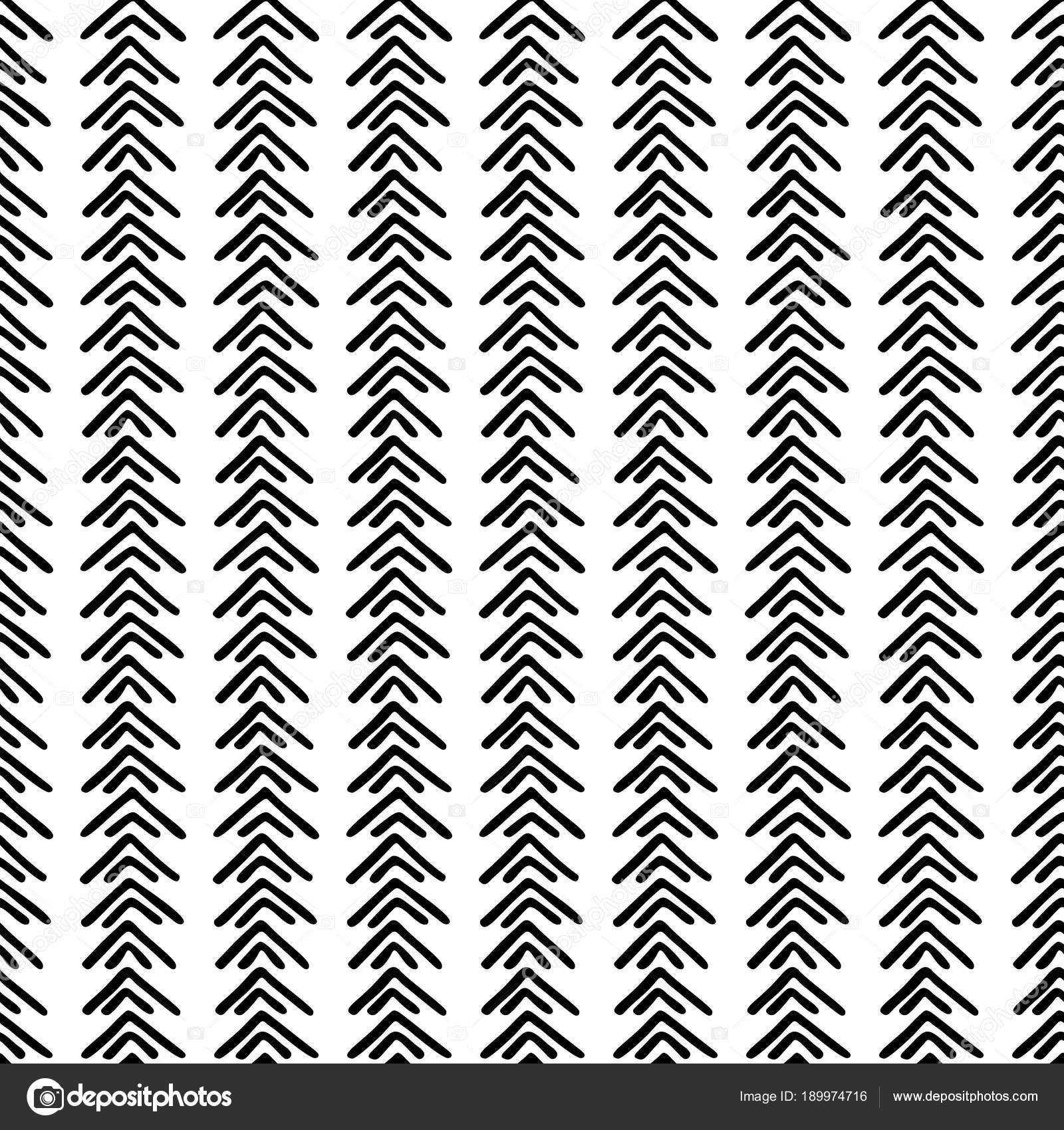 Blanco y negro de patrones étnicos sin fisuras. Tribal — Vector de ...