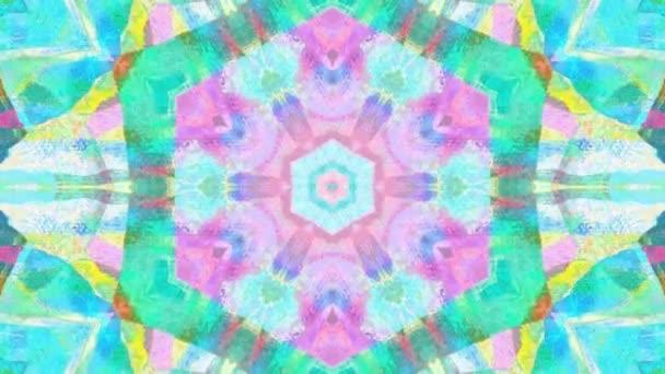 Mesés Álomszerű Pszichedelikus háttér mozgás felülete trendi színes eredeti Absztrakció akvarell Art minta áramlását. Mozgó zökkenőmentes ciklus pszichoterápia.