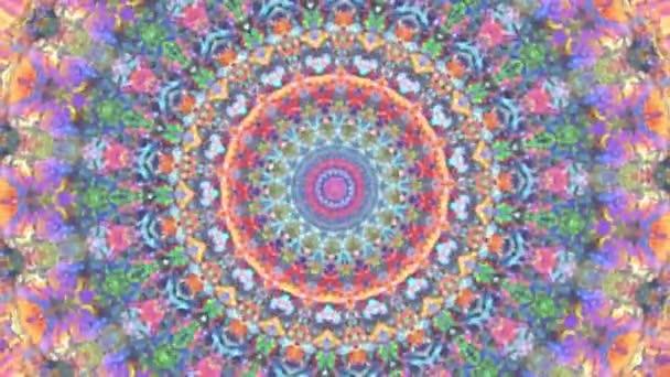 Báječné snové psychedelické pozadí pohybového povrchu módního barevného originálu Abstraction Art pattern flow. Pohybující se bezešvá smyčková psychoterapie.