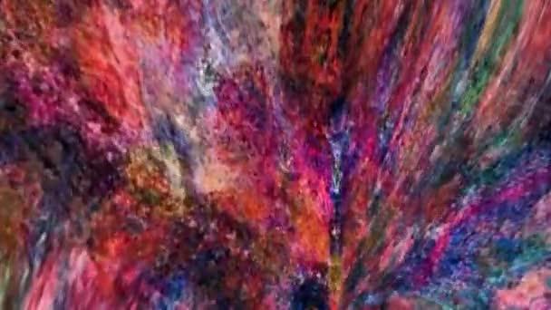 Báječný sen Psychedelic Blur záběry pozadí pohybu povrchu trendy barevné originální Abstraction Art pattern flow. Pohybující se bezešvá smyčková psychoterapie.