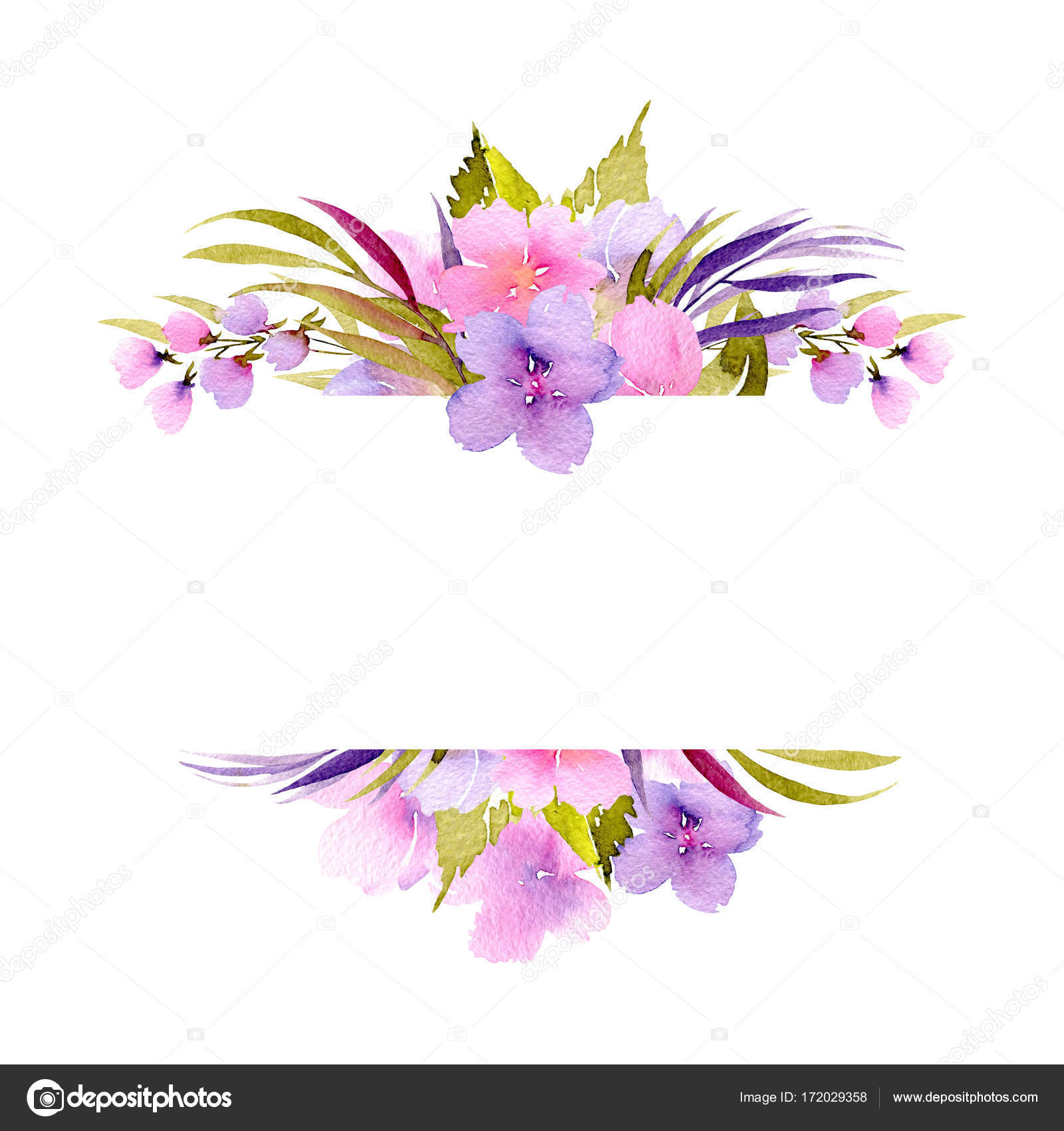 Frame border with pink and purple small wildflowers and green frame border with pink and purple small wildflowers and green plants stock photo jeuxipadfo Images