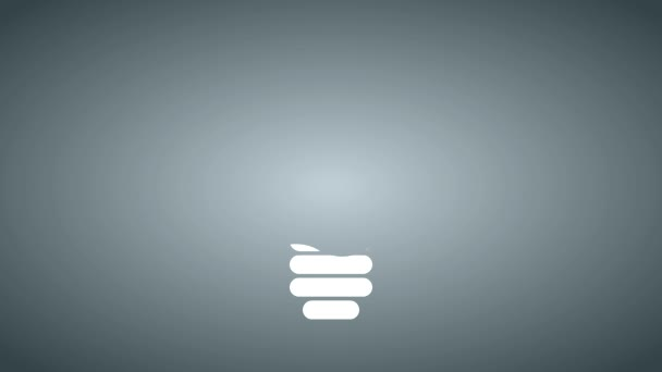 Infographic konstrukce. Žárovka, světlo ikon