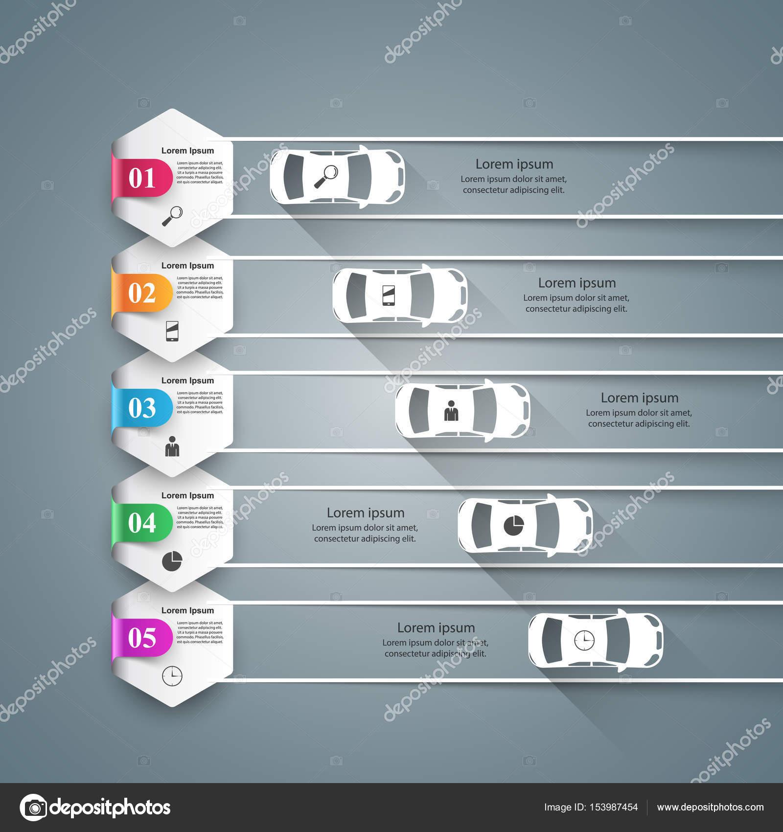 Carretera infografía diseño plantilla y comercialización los ...