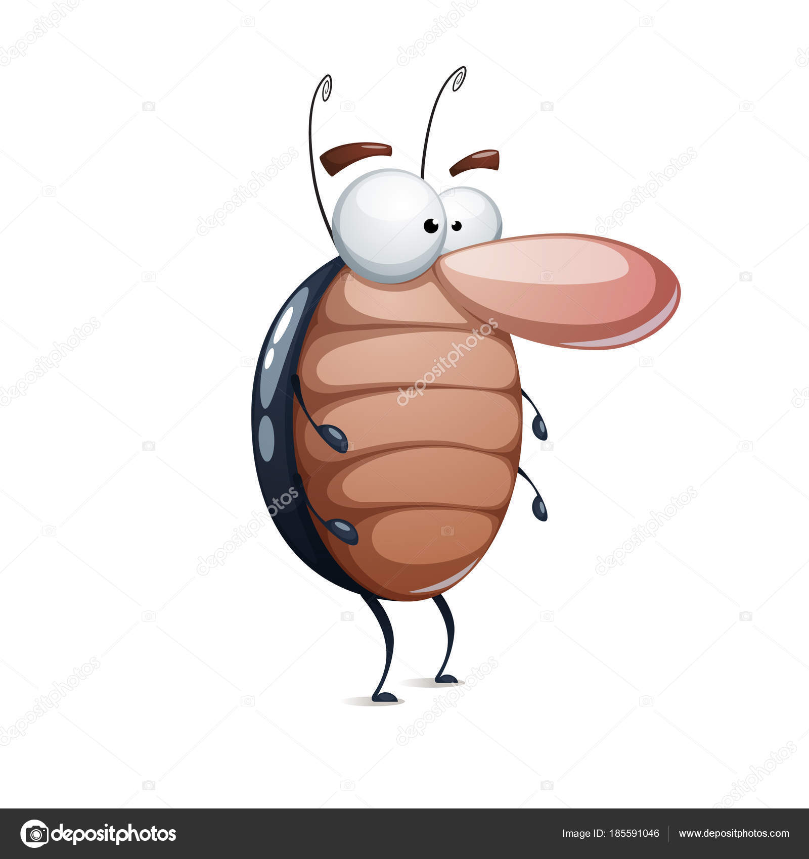 ファニーゴキブリのかわいい漫画のキャラクター ストックベクター