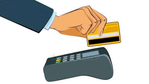 Käufer zahlt mit Karte