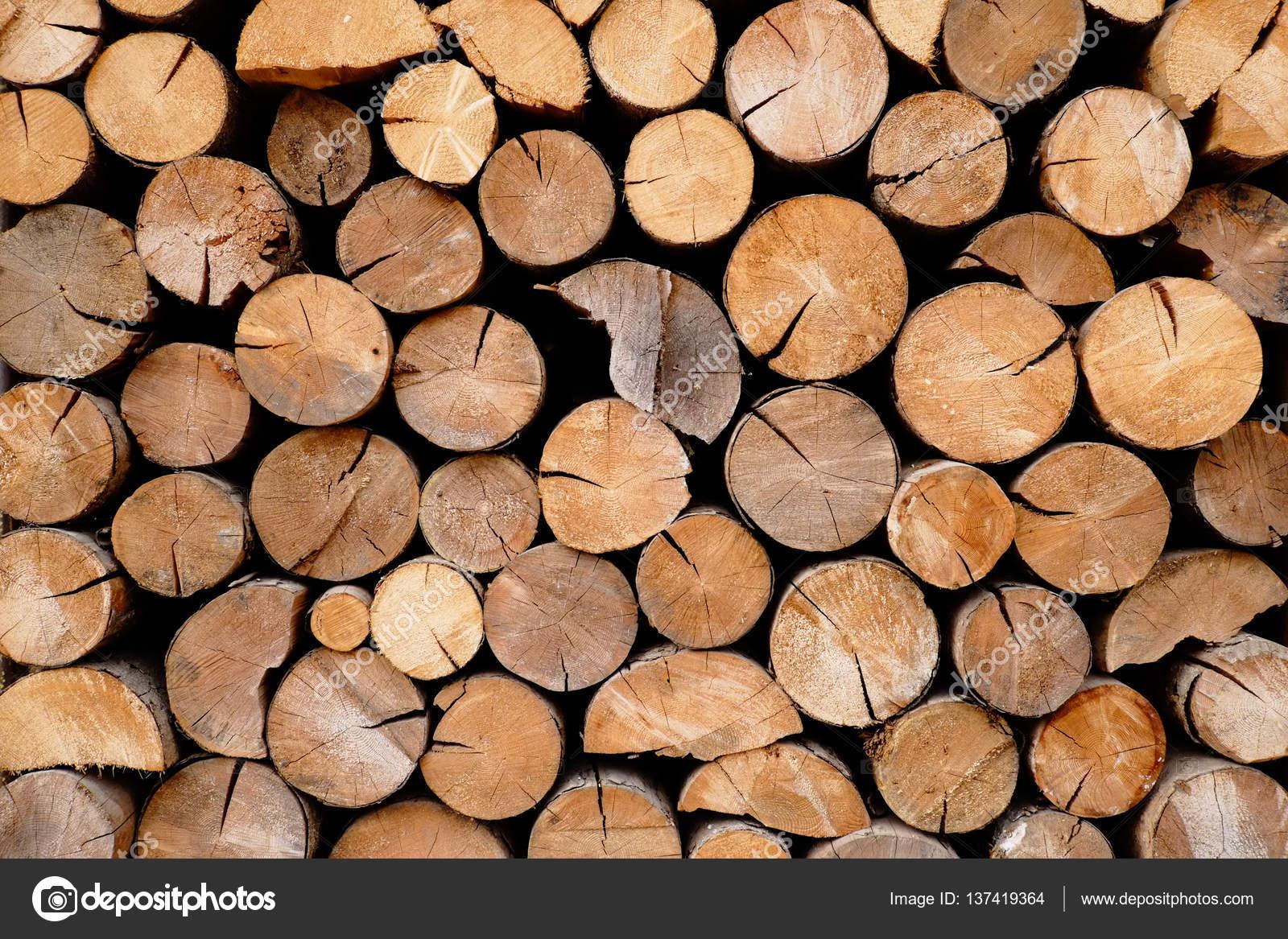 Pile Of Wood Logs Storage U2014 Stock Photo