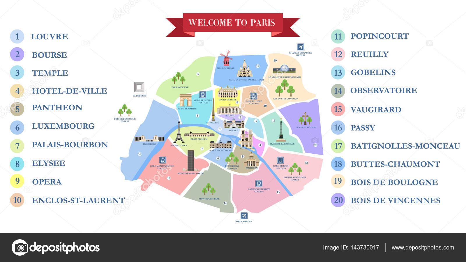 Karta Over Paris Sevardheter Karta 2020