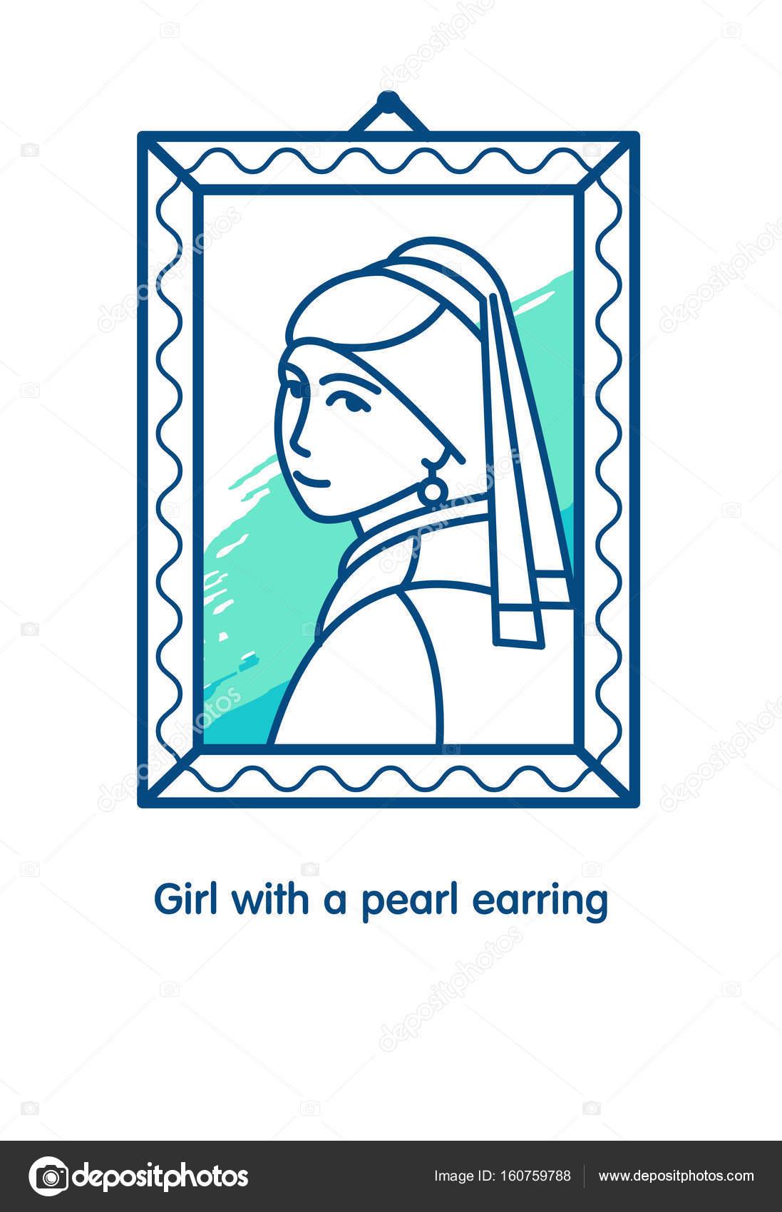 eladás online vásárlás elég olcsó Lány gyöngy fülbevalóval. A Vermeer művész festménye. Az ikonok ...