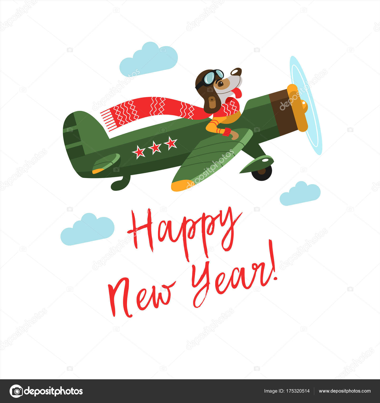 Happy new year! Vector illustration. — Stock Vector © katedemianov ...